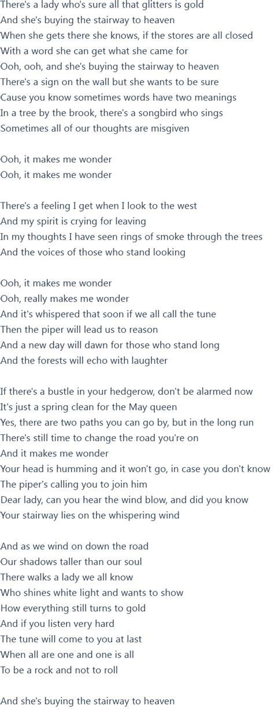 stairwells lyrics led zeppelin stairway to heaven lyrics official