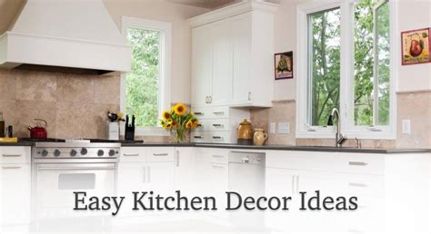 easy kitchen decor ideas knotty alder cabinets