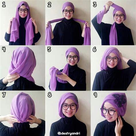 tutorial hijab turban modern elegan  berbagai acara
