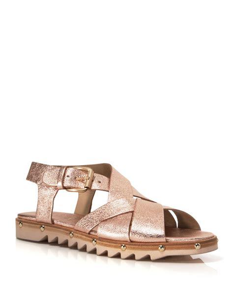 sole sandals agl attilio giusti leombruni flat sandals strappy lug