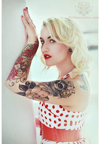 tattoo girl on facebook sugar skull tattoo on girl sleeve