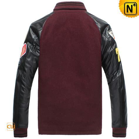 Jaket Zipper 2 We Stand For Persiba Balikpapan leather sleeve baseball jacket for cw850339