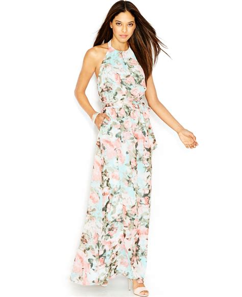 jessica simpson floral dress jessica simpson sleeveless halter neck floral print maxi