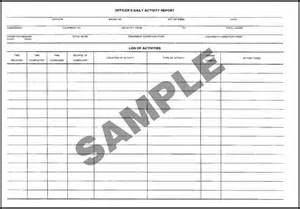 Security Officer Daily Activity Report Template Security Officer Daily Activity Report Template