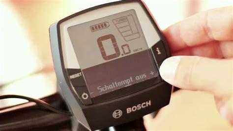 e bike beleuchtung bosch intuvia 2015 neuerungen softwareupdate kurz