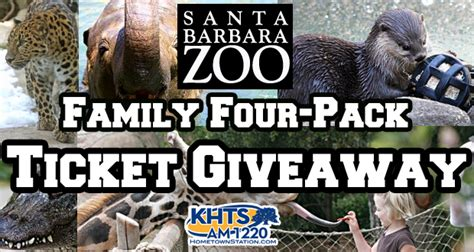Barbara S Giveaway - santa barbara zoo family four pack ticket giveaway hometown station khts fm 98 1
