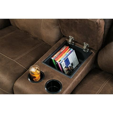 austere power reclining sofa ashley austere power reclining faux leather console