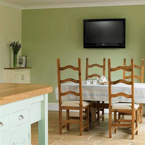 green walls dining room oat color scheme with green pastels for modern kitchen design and decorating