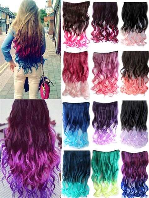 17 19 clip in hair extensions curly wavy brown 2 2014 one clip on hairpieces hair