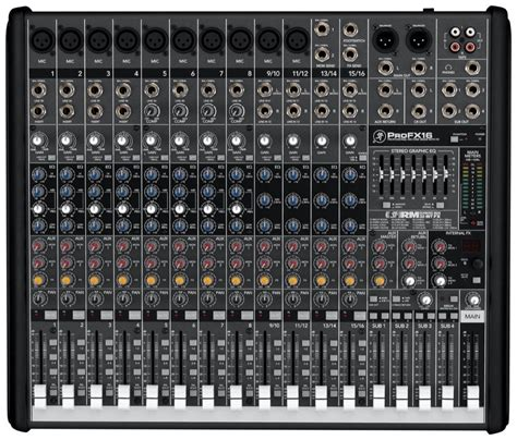 Mixer Yamaha F4 mackie profx16 effects mixer with usb 16 channel zzounds
