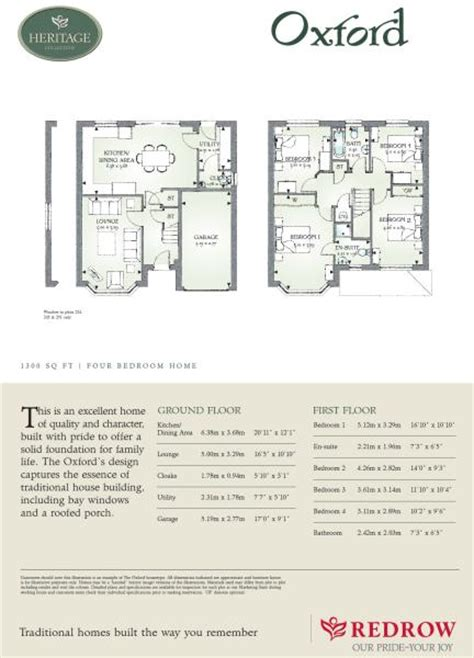 redrow oxford floor plan 4 bedroom detached house for sale in rochester road upper