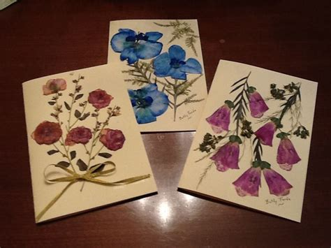 how to make pressed flower cards a few of my pressed flower card designs dried and