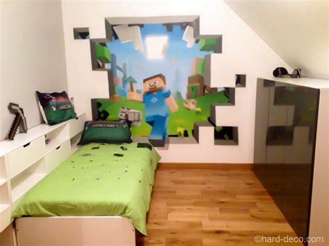 Chambre Garcon Ado Gamer by Th 232 Me Minecraft Ou Mario Pour La Chambre Du Fiston
