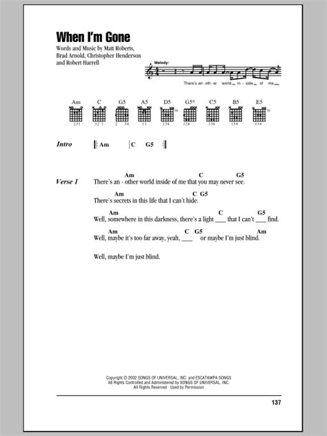 3 Doors When I M by When I M By 3 Doors Guitar Chords Lyrics Guitar Instructor