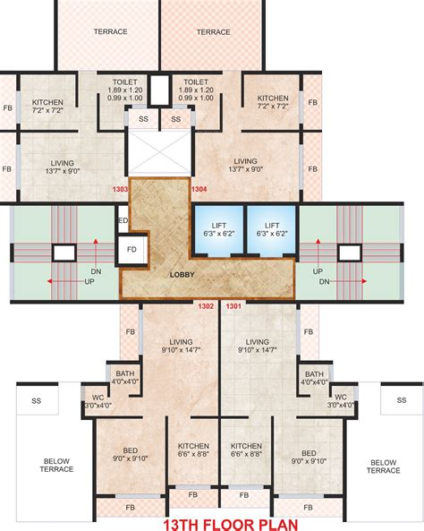 Uma Floor L 576 Sq Ft 1 Bhk 1t Apartment For Sale In Shree Raj Uma Paradise Taloja Mumbai