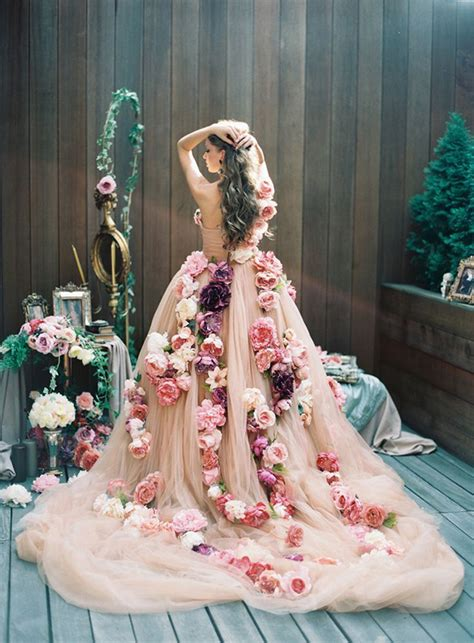 flower design wedding dresses unique floral design inspiration for spring weddings hey