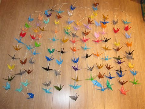 Origami Crane Chain - cheap origami paper uk
