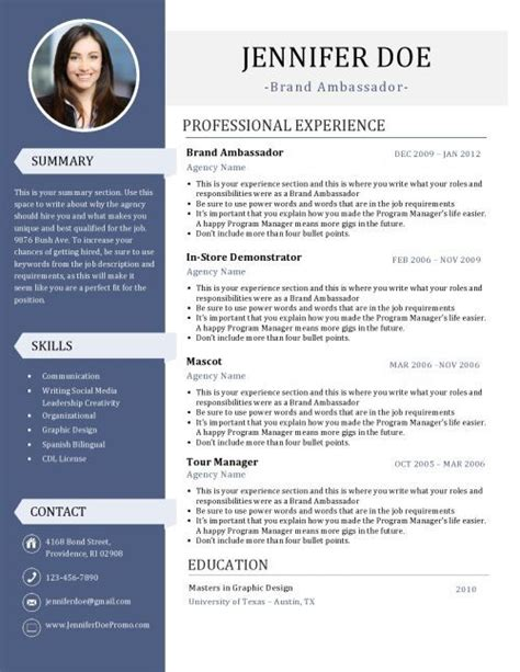 brand ambassador resume brand ambassador resume brand