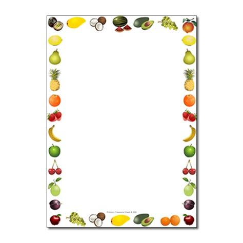 fruit themed page borderwriting frame  lines
