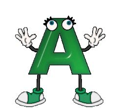 lettere gif green dolls alphabet animated gifs clipart best