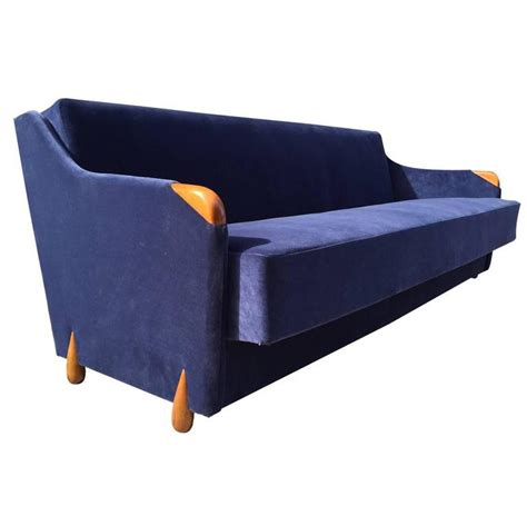blue velvet sleeper sofa 1950s blue velvet sleeper sofa for sale at 1stdibs