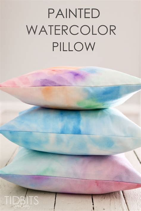 Pillows At by How To Watercolor Paint On Fabric Tutorial Ella