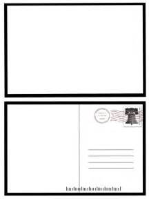Postcards Templates For Word by 7 Best Images Of Postcard Back Template Free Blank