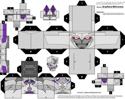 Transformers Papercraft - cubee megatron tf prime by cyberdrone on deviantart