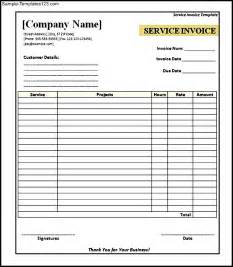 Printable Invoice Template Free by Free Printable Service Invoice Template Sle Templates
