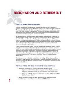 How To Write A Resignation Letter For Retirement by Retirement Resignation Letter Sles Resume Cv Cover Letter