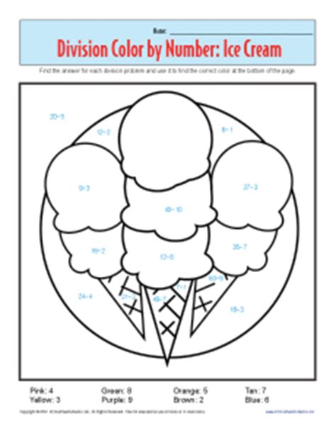 Division Coloring Worksheets by Color By Number Printable Division Worksheets