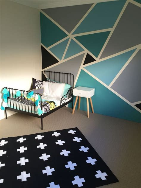 geometric wall painting ideas weneedfun