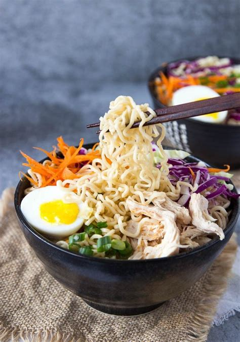 healthy chicken ramen bowl clean eating simple healthy