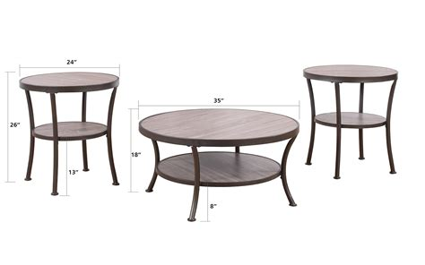 3 piece living room table set 3 piece modern round coffee table and 2 end tables living