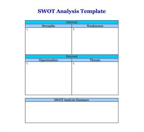Swot Analysis Template Word Madinbelgrade Best Swot Analysis Template