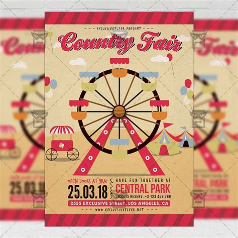 Country Fair Community A5 Flyer Template Exclsiveflyer Free And Premium Psd Templates Fair Flyer Template