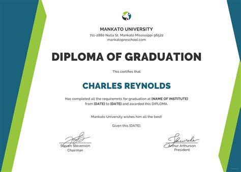 templates of certificates and diplomas free sle diploma certificate template in psd ms word