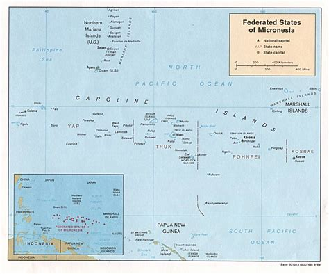 micronesia map nationmaster maps of micronesia federated states of 7 in total