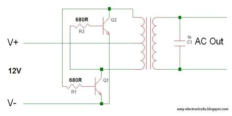 transistor builds make the easiest and simplest inverter easy electronics