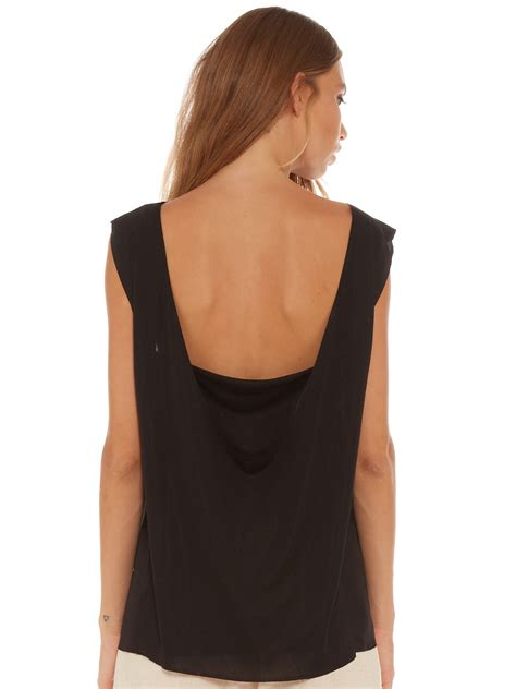 Layer Back Top interval layer back drape top in black
