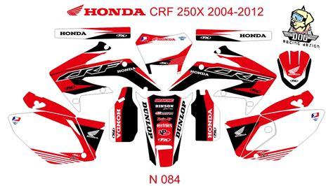 honda crf 250x 2004 2012 graphic decal kit code n 084