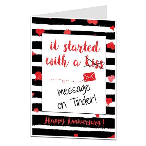 It Started With A it started with a message on tinder anniversary card