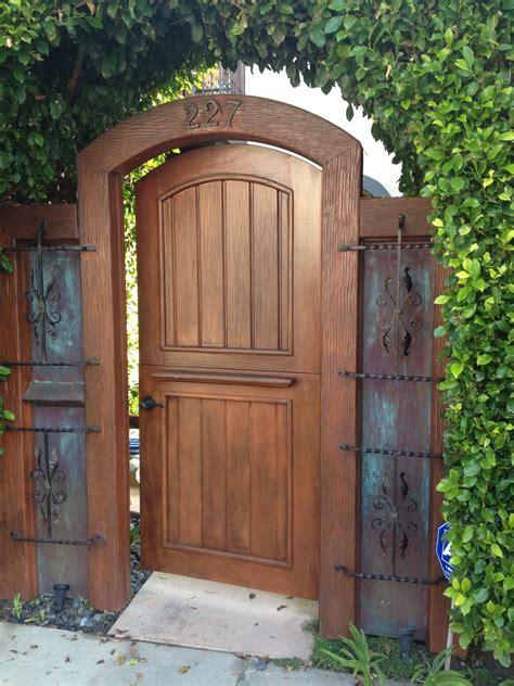 dutch door  gate wooden garden gate