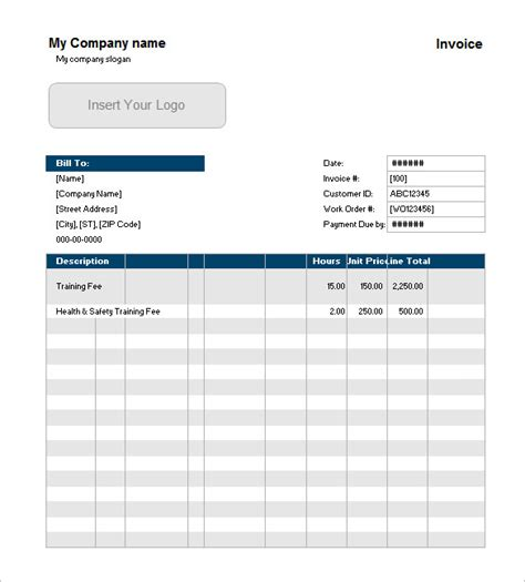 Customer Invoice Template Excel by Invoice Template 41 Free Word Excel Pdf Psd Format
