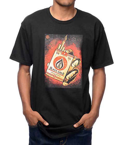 Obey Black Gold White black gold t shirts artee shirt