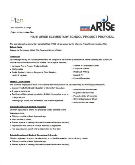 sample project proposal template 9 free documents in