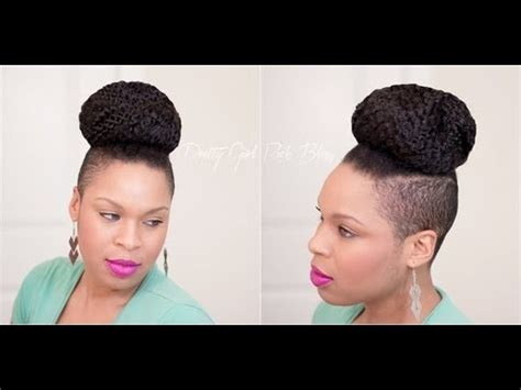 shaved hairstyle with bun natural hairstyle easy shaved sides a top knot