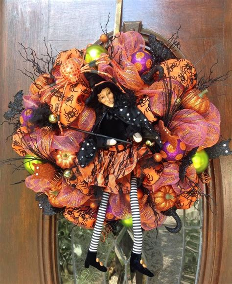 fearsome handmade halloween wreath designs