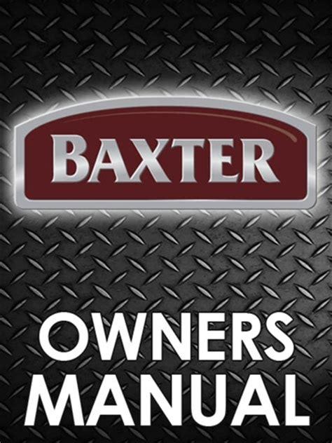 Baxter Ov500 Series Rack Oven Manual