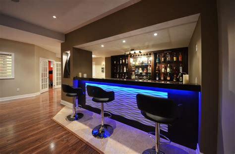 Modern Bar Designs Convert Your Contemporary Basement Into Livable Space